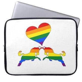 Capa Para Notebook Unicórnios do arco-íris