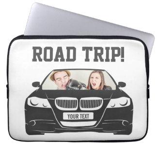 Capa Para Notebook Viagem por estrada feita sob encomenda engraçada