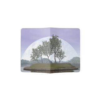 Capa Para Passaporte Árvore com folhas lisa dos bonsais do olmo - 3D