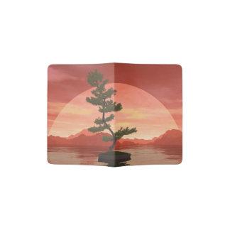 Capa Para Passaporte Árvore dos bonsais do pinho escocês - 3D rendem