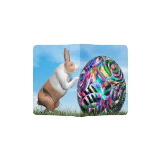 Capa Para Passaporte Coelho que empurra o ovo da páscoa - 3D rendem