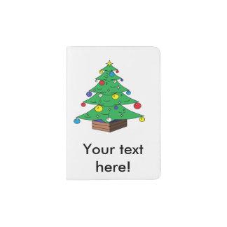 Capa Para Passaporte Desenhos animados decorados da árvore de Natal