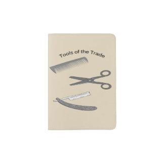 Capa Para Passaporte Ferramentas do barbeiro do comércio