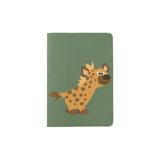 Capa Para Passaporte Hiena de passeio bonito dos desenhos animados