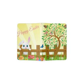 Capa Para Passaporte Ilustração do coelho de felz pascoa