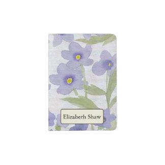 Capa Para Passaporte impressão das esquecer-me-não-flores