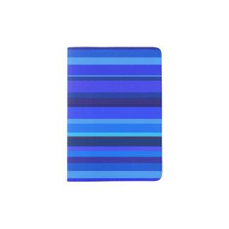 Capa Para Passaporte Listras horizontais azuis