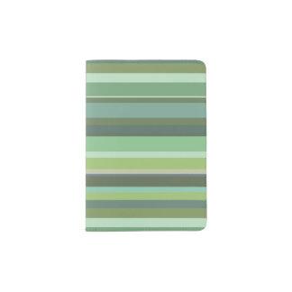 Capa Para Passaporte Listras horizontais da verde azeitona