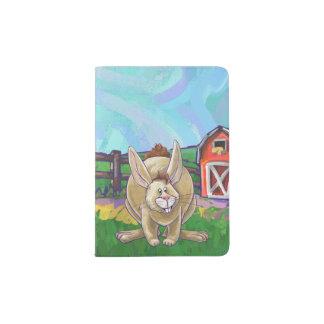 Capa Para Passaporte Material animal da escrita da parada do coelho