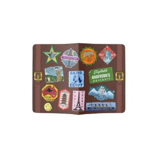 Capa Para Passaporte Nome da etiqueta da mala de viagem do viagem do