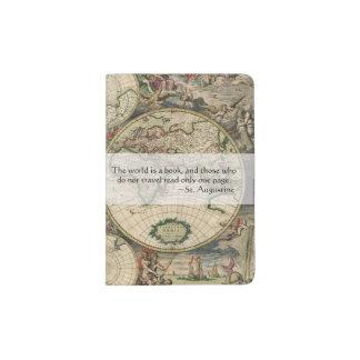 Capa Para Passaporte O mundo antigo do mapa do mundo   é umas citações