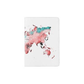 Capa Para Passaporte suporte do passaporte do mapa do mundo