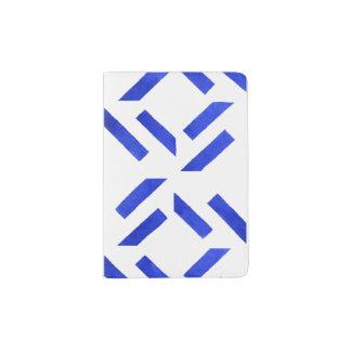 Capa Para Passaporte Teste padrão geométrico azul