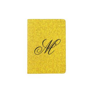 Capa Para Passaporte Textura do brilho do ouro