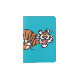 Capa Para Passaporte Tigre Running dos desenhos animados