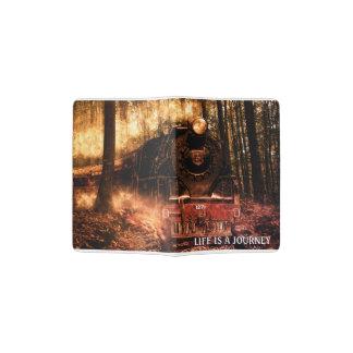 Capa Para Passaporte Trem do suporte do passaporte na floresta