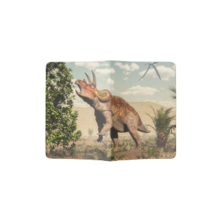 Capa Para Passaporte Triceratops que come na árvore da magnólia - 3D