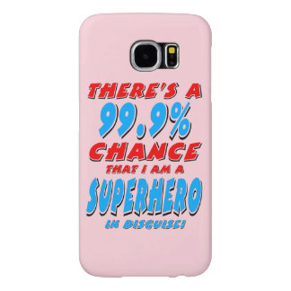 Capa Para Samsung Galaxy S6 99,9% Eu sou um SUPER-HERÓI (o preto)