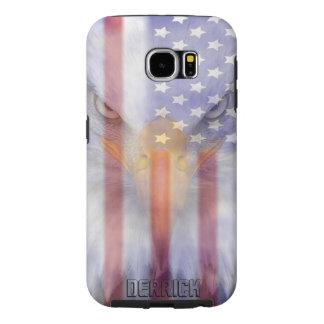 Capa Para Samsung Galaxy S6 A bandeira | desvaneceu-se Eagle | personalizado