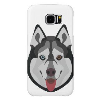 Capa Para Samsung Galaxy S6 A ilustração persegue o rouco Siberian da cara