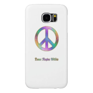 Capa Para Samsung Galaxy S6 A paz começa dentro do sinal de paz psicadélico