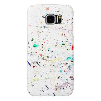 Capa Para Samsung Galaxy S6 A pintura da arte abstracta espirra e pontos