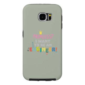 Capa Para Samsung Galaxy S6 A princesa Eu quer ser um Engnineer Z2yb2