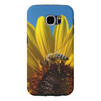 Capa Para Samsung Galaxy S6 Abelha do mel na caixa da foto do girassol