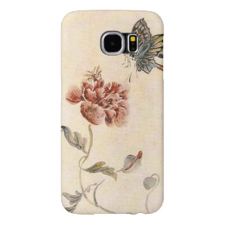 Capa Para Samsung Galaxy S6 Aguarela da abelha, da borboleta e da papoila do