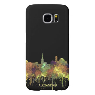 Capa Para Samsung Galaxy S6 Alexandria, skyline de Viirginia - SG - lustre do