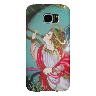 Capa Para Samsung Galaxy S6 Anjo do Natal - arte do Natal - decorações do anjo