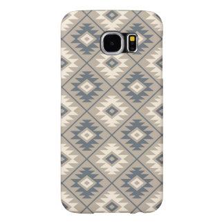Capa Para Samsung Galaxy S6 Areia de creme azul do teste padrão estilizado