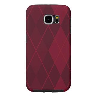 Capa Para Samsung Galaxy S6 Argyle vermelho