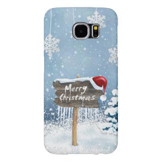Capa Para Samsung Galaxy S6 Arte do Natal - ilustrações do Natal
