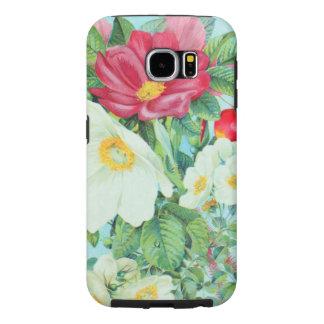 Capa Para Samsung Galaxy S6 arte do rosa de chá
