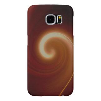 Capa Para Samsung Galaxy S6 Arte espiral clara escura de Brown