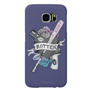 """Capa Para Samsung Galaxy S6 Arte """"podre"""" do tatuagem do pelotão   Harley Quinn"""