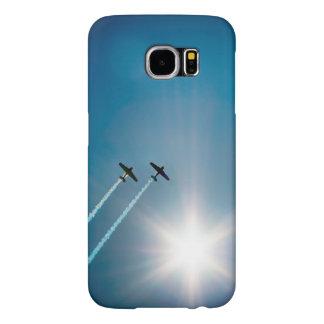 Capa Para Samsung Galaxy S6 Aviões que voam no céu azul com Sun.