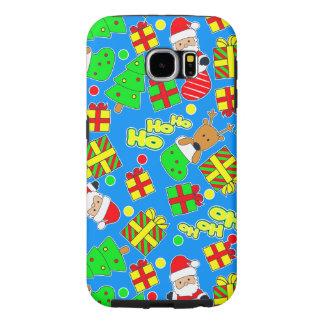 Capa Para Samsung Galaxy S6 Azul - Ho Ho papai noel