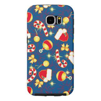 Capa Para Samsung Galaxy S6 Azul - o boné do papai noel