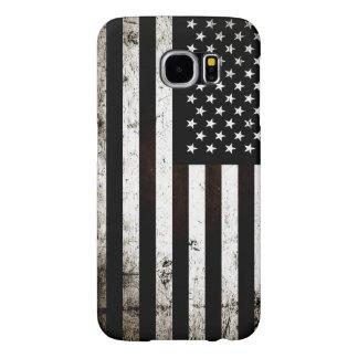 Capa Para Samsung Galaxy S6 Bandeira americana 2 do Grunge preto