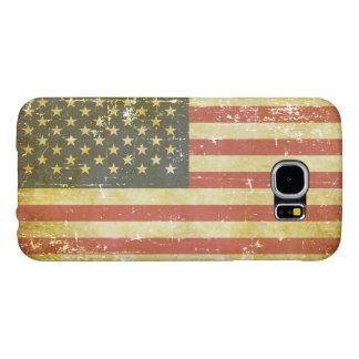 Capa Para Samsung Galaxy S6 Bandeira americana patriótica gasta