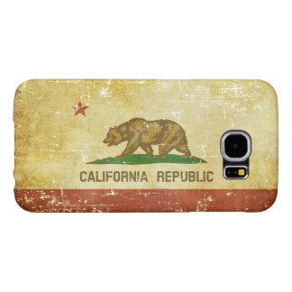Capa Para Samsung Galaxy S6 Bandeira patriótica de papel gasta do estado de