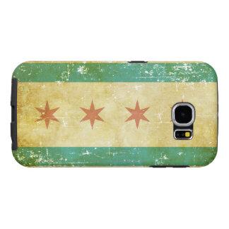 Capa Para Samsung Galaxy S6 Bandeira patriótica gasta de Chicago