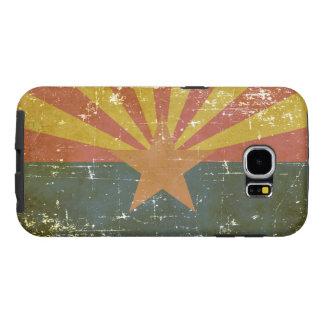 Capa Para Samsung Galaxy S6 Bandeira patriótica gasta do estado da arizona