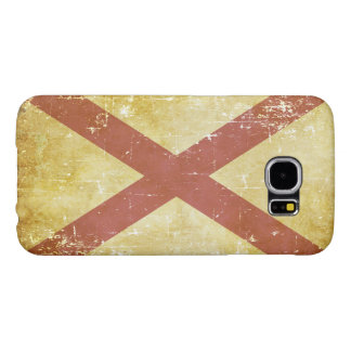 Capa Para Samsung Galaxy S6 Bandeira patriótica gasta do estado de Alabama