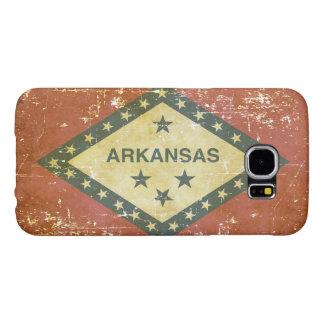 Capa Para Samsung Galaxy S6 Bandeira patriótica gasta do estado de Arkansas