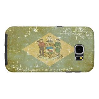 Capa Para Samsung Galaxy S6 Bandeira patriótica gasta do estado de Delaware