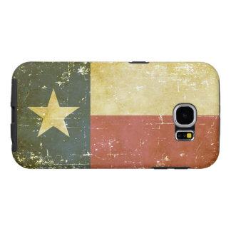 Capa Para Samsung Galaxy S6 Bandeira patriótica gasta do estado de Texas