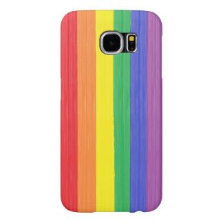 Capa Para Samsung Galaxy S6 Bandeira pintada do arco-íris
